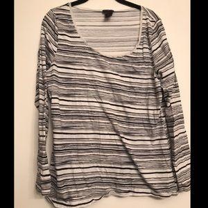 🎉3/$25 Ann Taylor Cotton Striped Tee XL